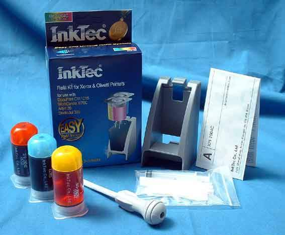 COLOR REFILL KIT FOROlivetti Artjet 10 / 20  -- Studiojet 300 - Jetlab 600